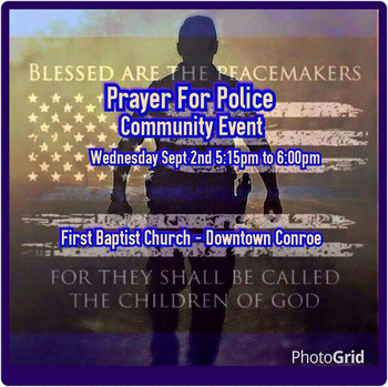 Prayer for Police Community Event